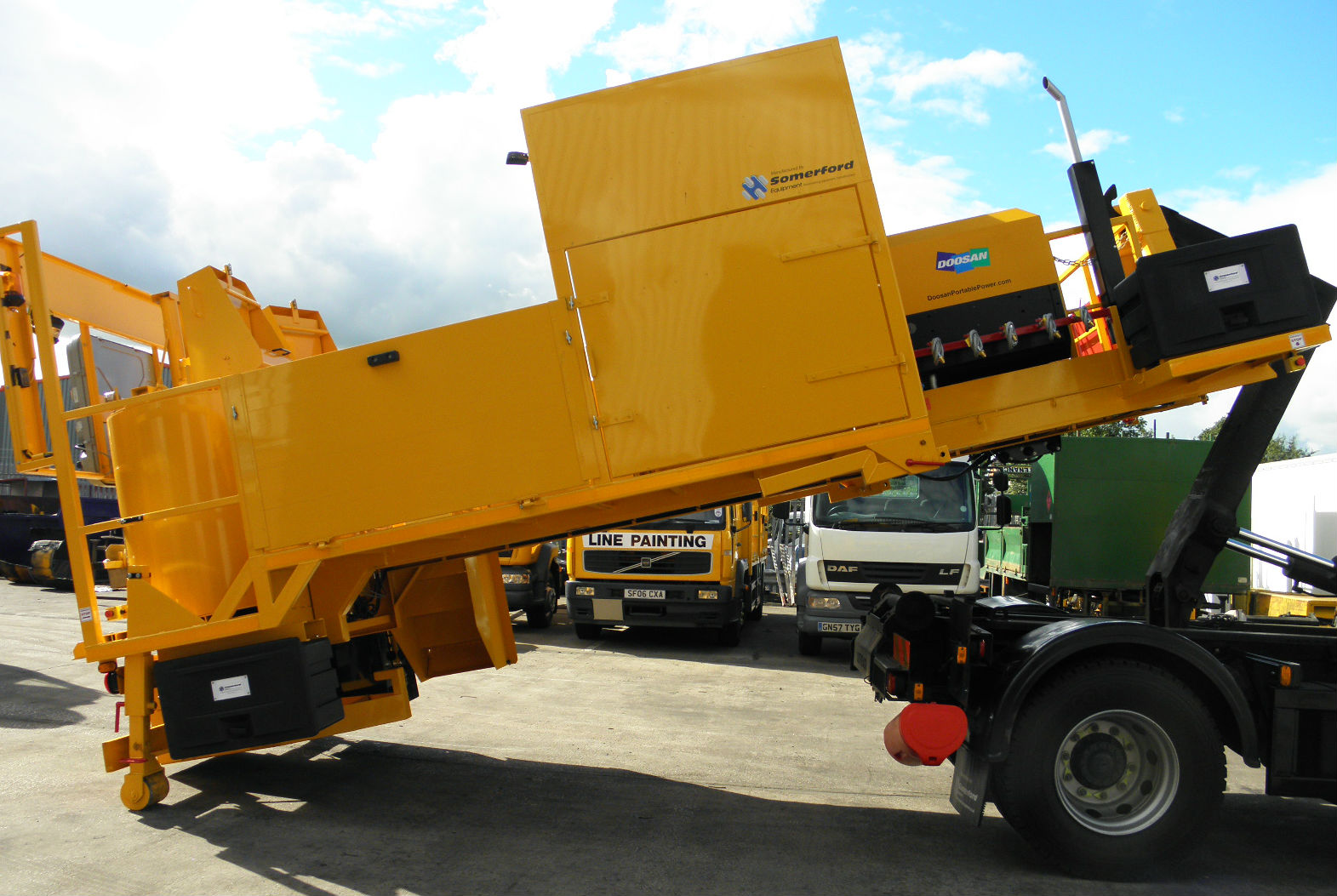Demountable road marking unit
