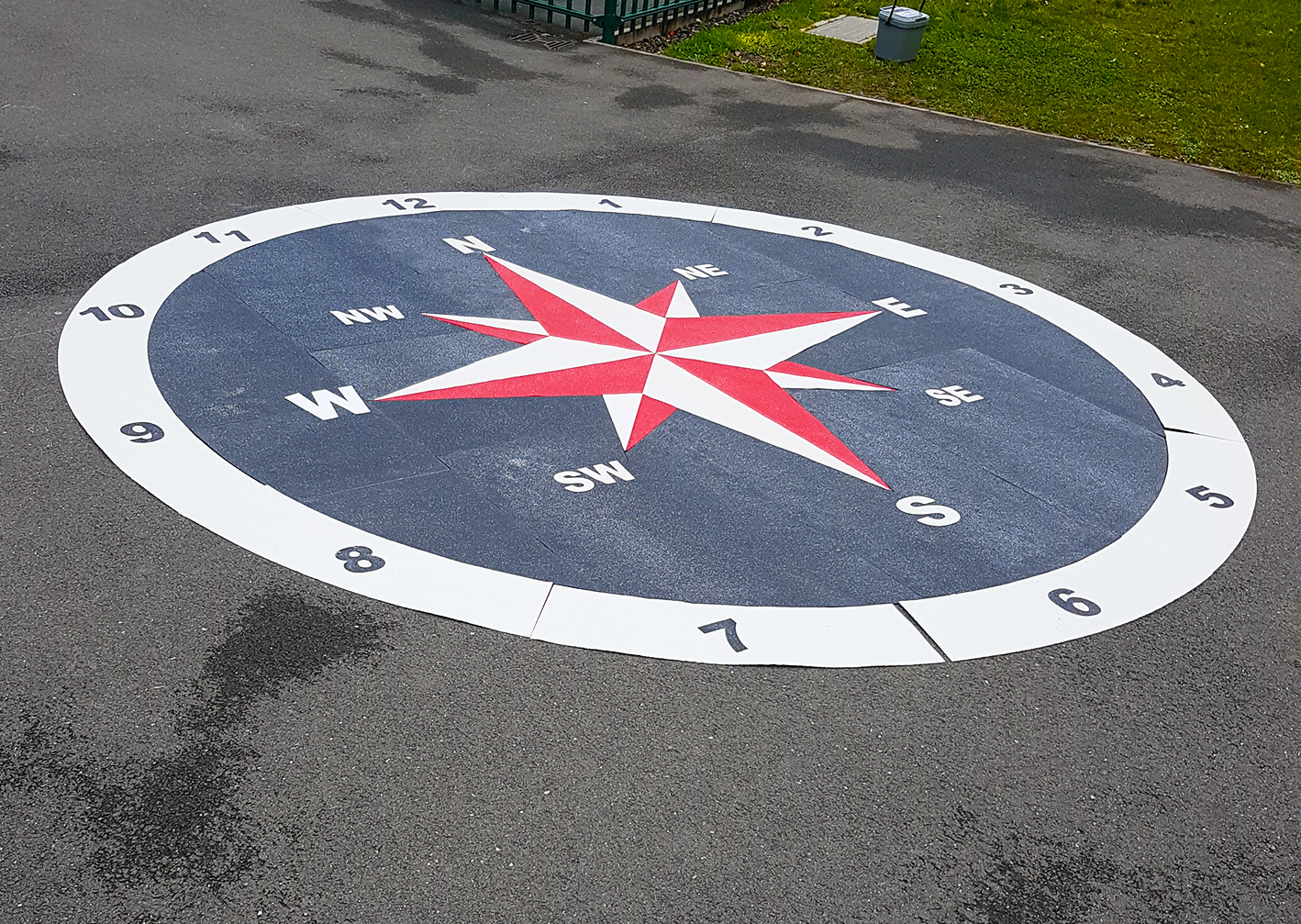 Preformed Thermoplastic Playground Compass