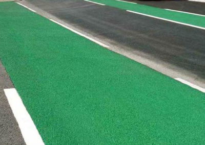 green-colourcote-road-surface
