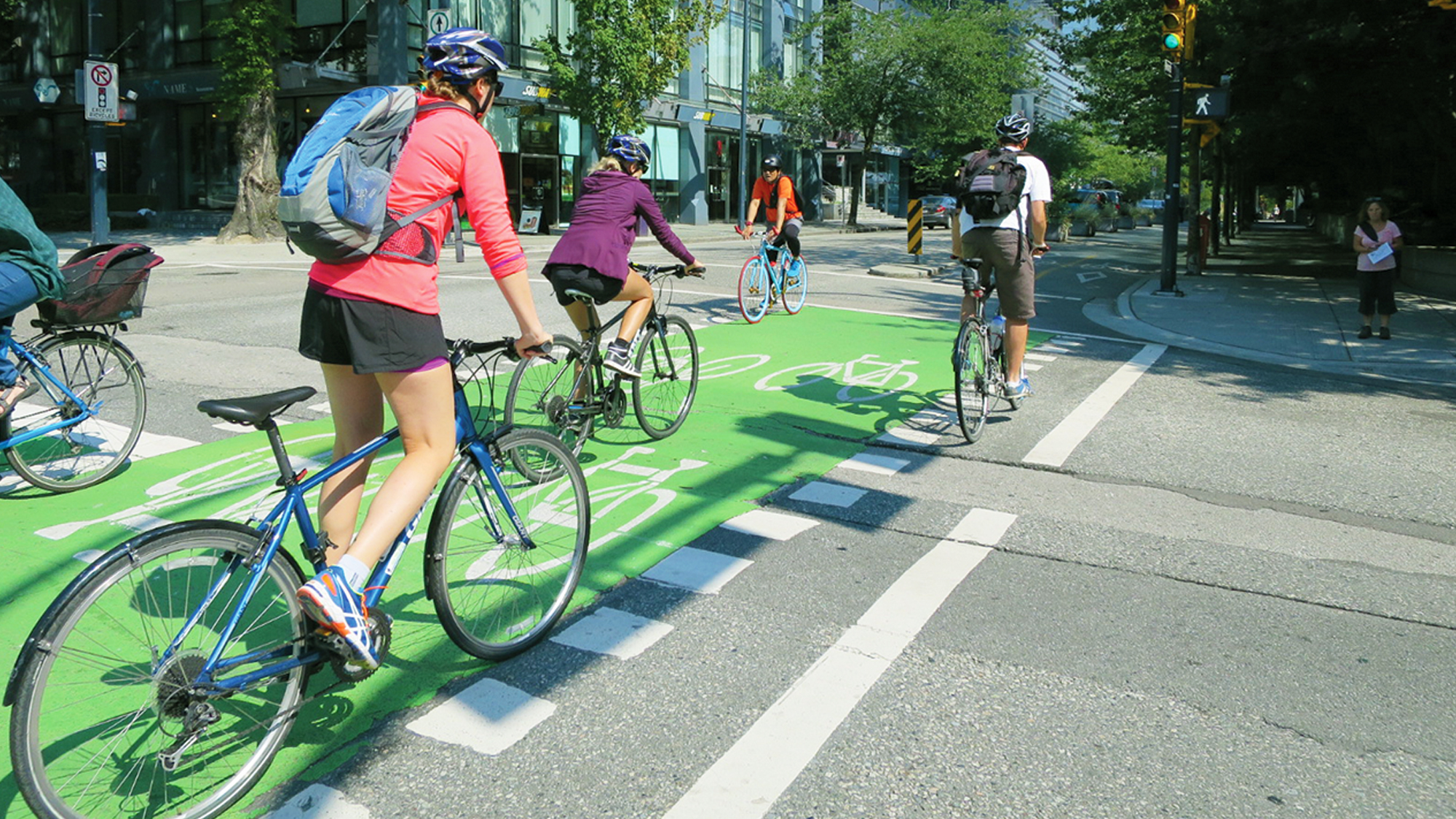 High Friction Surface Cold Applied Cycle Track