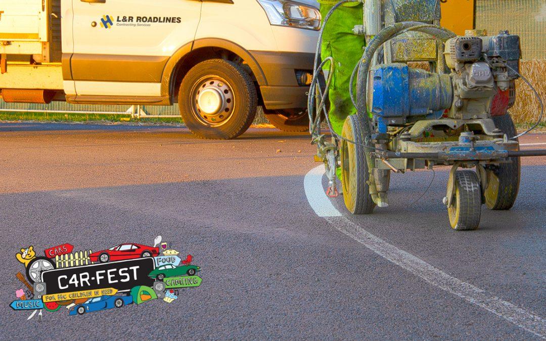 L&R Roadlines Install Track Markings at CarFest 2018