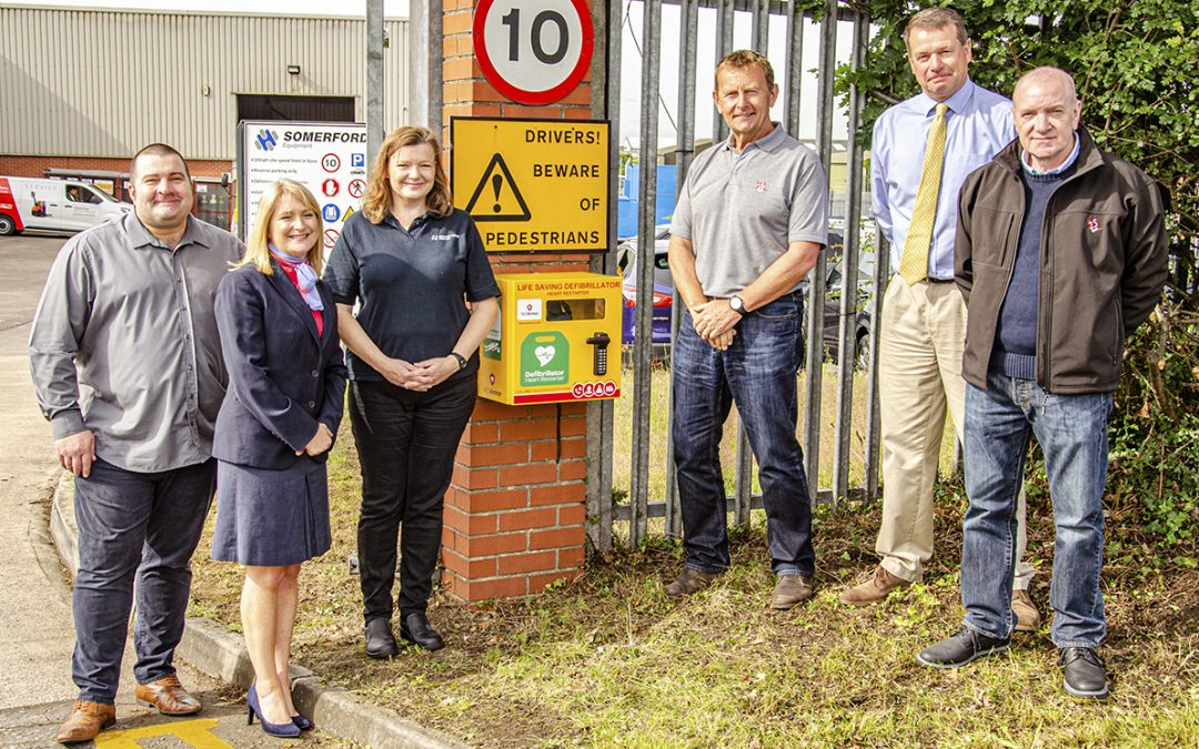 Somerford Equipment Install Life Saving Defibrillator