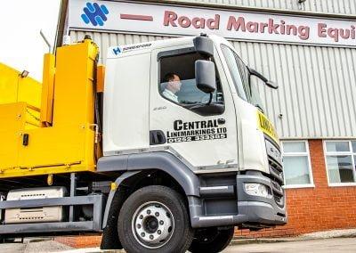 road marking truck