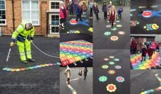 Playground Markings Donated to Local School to Brighten Up Break Times